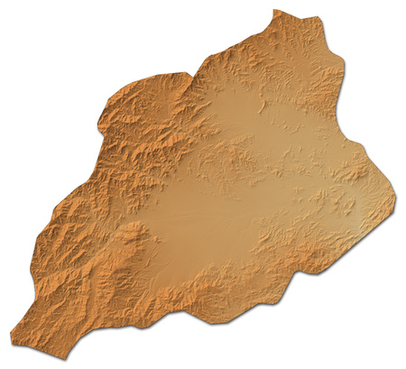 Relief map of Khost, a province of Afghanistan, with shaded relief. Stock Photo