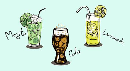 Summer drinks. Ilustração