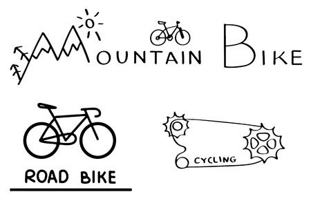 Bicycle logo set