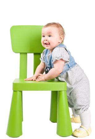 The green Chair Standard-Bild