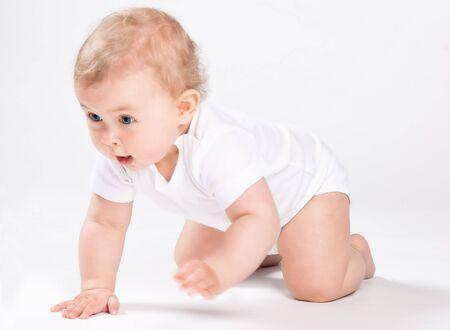 Baby crawls  photo