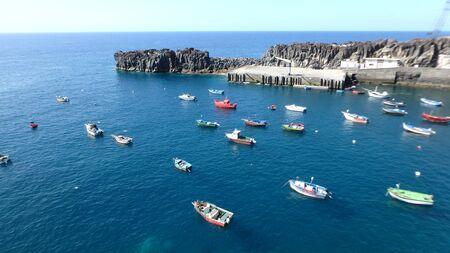 Fishing village on Madeir Stock Photo