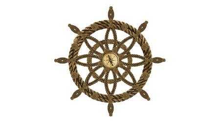 Steering wheel from old rope