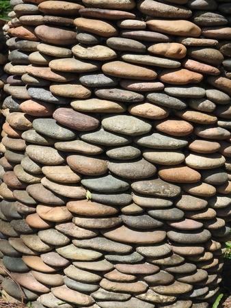 Wall of field stones Фото со стока