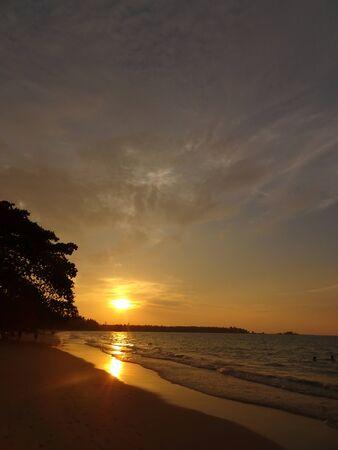 Sunset on the beach at Khao Lak