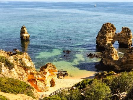 Algarve coast at Lagos Portugal