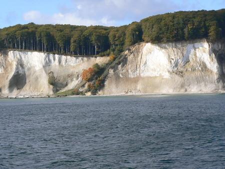 Chalk cliffs on R?gen Island Stock Photo