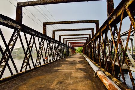 Old steel bridge in Bentota on Sri Lanka