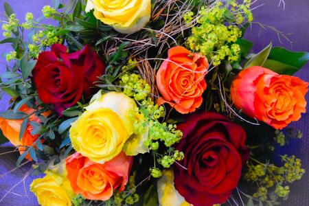 Rosebouquet with different roses