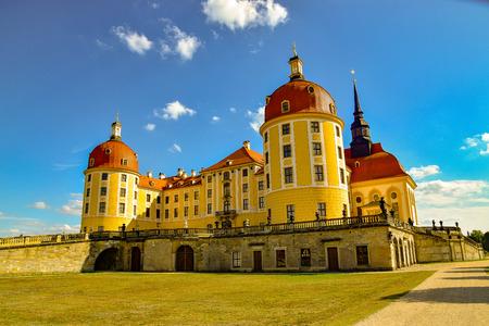 Historical hunting lodge Moritzburg, baroque castle Moritzburg