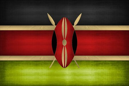 The colors and map of Kenya Stockfoto