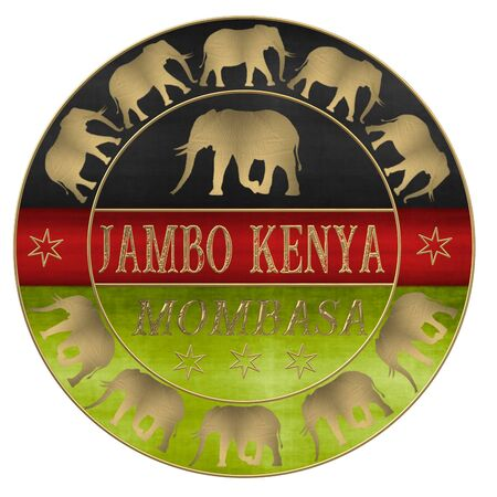 Hello Kenya Jambo Kenya Stockfoto