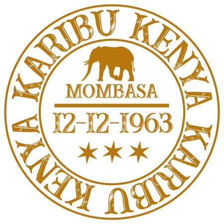 Willkommen Kenia Karibu Kenia Standard-Bild