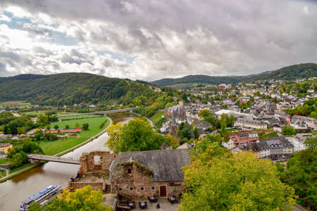 Saarburg city on the Saar 新聞圖片