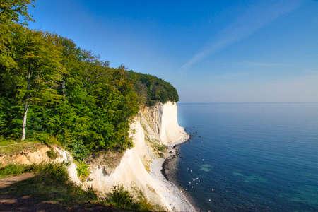 Chalk cliffs on the beautiful island of Ruegen Stock Photo