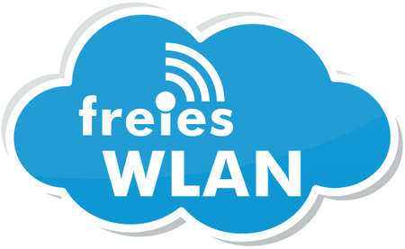 Free wlan with cloud Stock Photo - 79738409