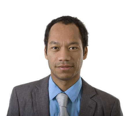 Attraktiv Business männlich Portrait in grauen Anzug