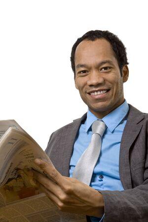 Geschäftsmann Zeitung lesen