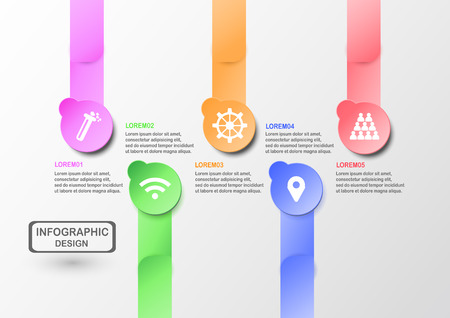 Abstract infographics for business presentation with text space.