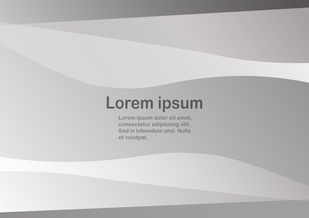 abstract grey background with copy space for text curve template