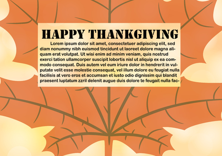 happy thanksgiving background with text space for postcard template