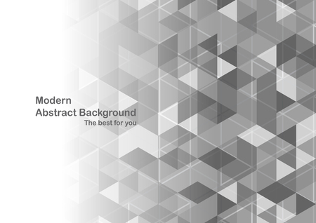 Modern abstract background in polygon shape. Template design in grey and white tone for business presentation, cover, brochure, packaging and web banner. Illustration