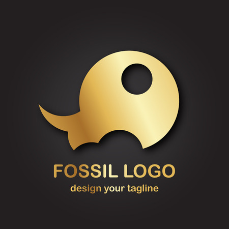 Golden premium logo isolated on gradient black background.