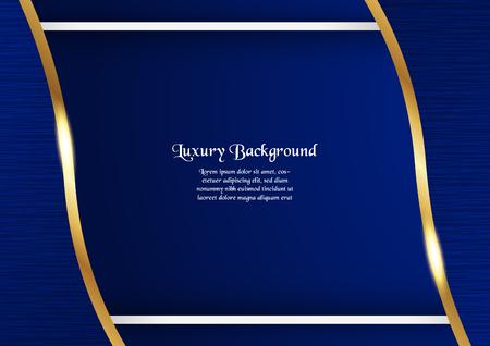 Abstrakter blauer Hintergrund im Premium-Konzept mit Kopienraum. Vorlagenentwurf für Abdeckung, Geschäftspräsentation, Web-Banner, Hochzeitseinladung und Luxusverpackung.