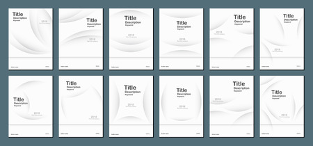 White modern abstract background with text space for web banner, cover design, brochure, book, template and presentation. Vector ilustration.