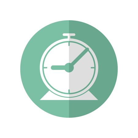 Icon design of clock for setting a time include meeting, get up,travelling, more.  Vector illustration in flat style.