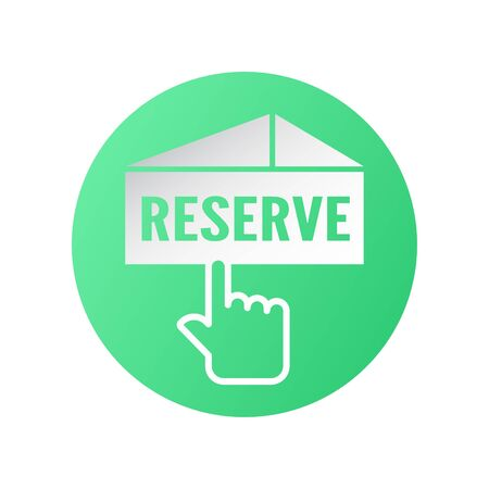 Icon design for reservation. Vector illustration is on white background. Иллюстрация
