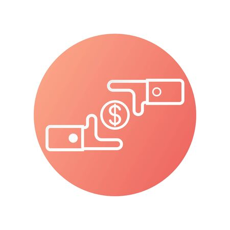Icon design in concept of money exchage. Vector illustration isolated on white background.