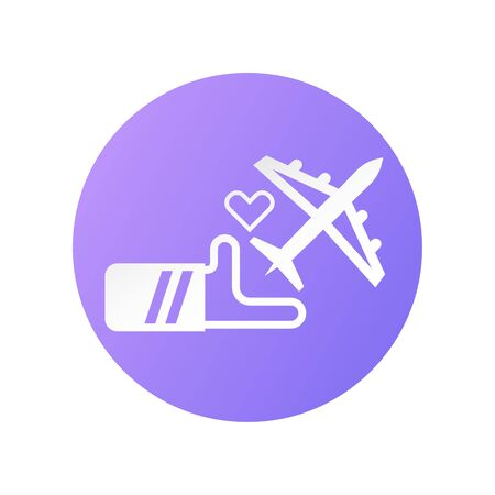 Icon design for travel insurance.  Vector illustration in flat style. Иллюстрация