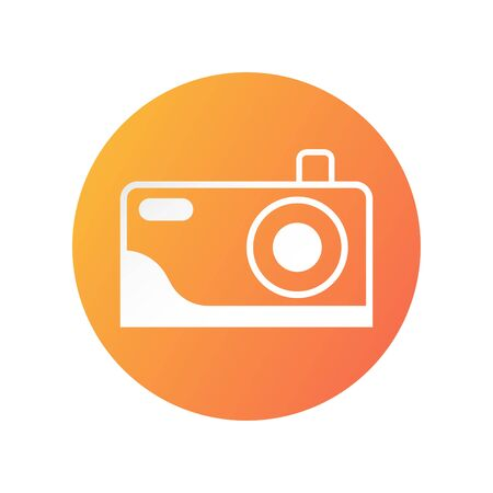 Camera icon design for showing that place can take a picture. Vector illustration isolated on white background.