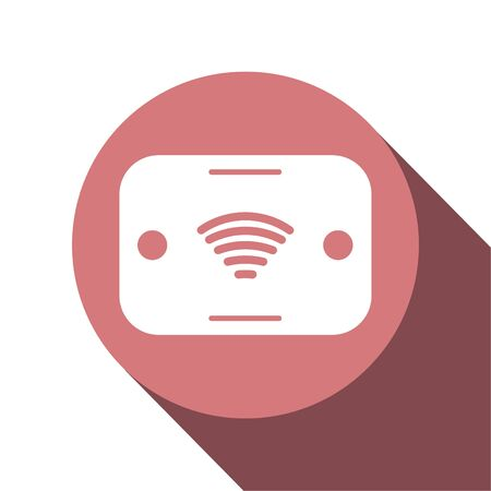 Icon design of pocket wifi for travelling around the world. Vector illustration in flat style. Иллюстрация