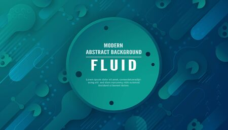 Modern abstract background in liquid and fluid style. Trend design of the world. 3D illustration template for web banner, business presentation.