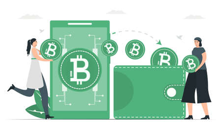 In present, digital money can use instead of wallet. Payment method with digital money. This infographic banner was designed by using vintage green color.