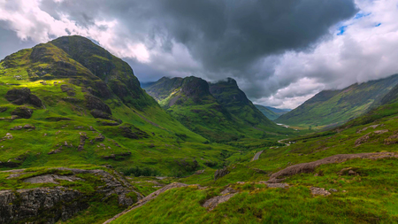 Glencoe. A dramatic shot of Glencoe in the Scottish Highlands.
