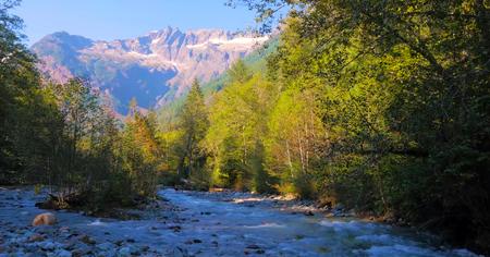 Beautiful Washington Autumn Nature Scenery - twin lakes road campground. Stock Photo - 116680664