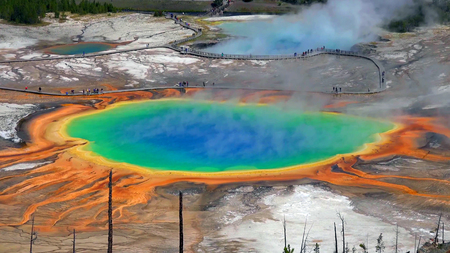 Grand Prismatic Spring view at Yellowstone National Park. 写真素材