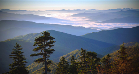 Great Smoky Mountains National Park Scenic Landscape . Stock Photo
