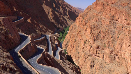 Mountain pass in Dades Gorges, Atlas Mountains, Morocco. 写真素材