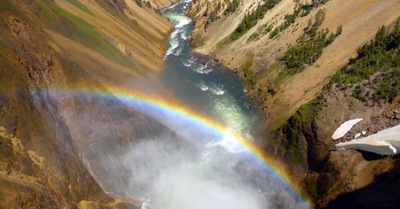 Stock image of Brink Of The Lower Falls, Yellowstone National Park, USA.