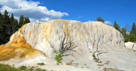 Stock image of Mammoth Hot SPrings, Yellowstone National Park, USA.