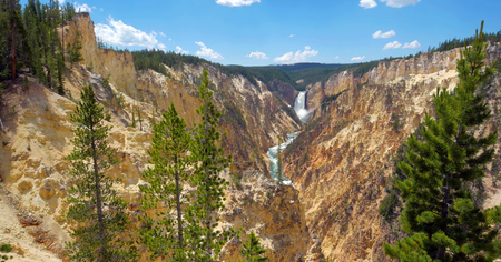 Stock image of Artist Point Grand Canyon Of Yellowstone, Yellowstone National Park, USA. 版權商用圖片