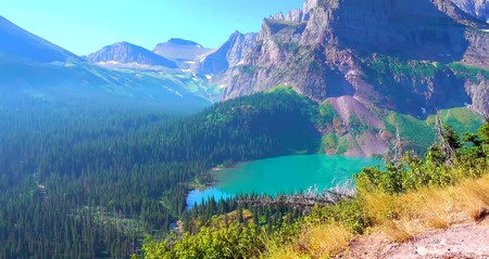 Beautiful Landscape photography of Glacier National Park in Montana USA.