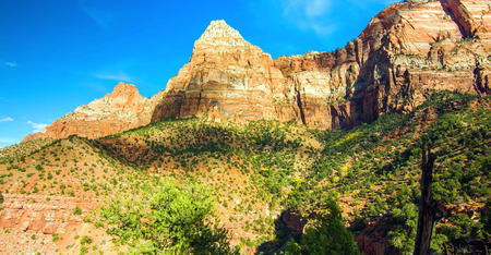 Amazing view of Watchman Trail, Zion National Park, Utah.