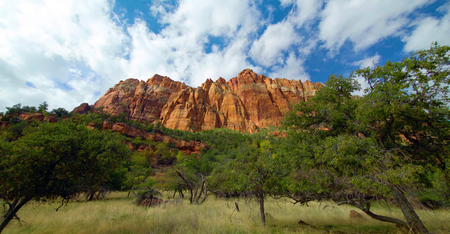 Amazing view of Sand Bench Trail, Zion National Park, Utah.