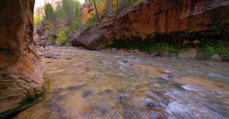 Amazing view of The Narrows, Zion National Park, Utah.