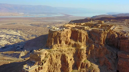 Masada. The ancient fortification in the Southern District of Israel. Masada National Park in the Dead Sea region of Israel. Imagens